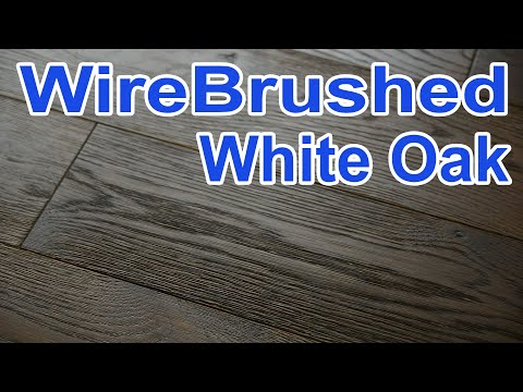 Wire Brush Wood Floor Prefinished White Oak Character From City Floor Supply