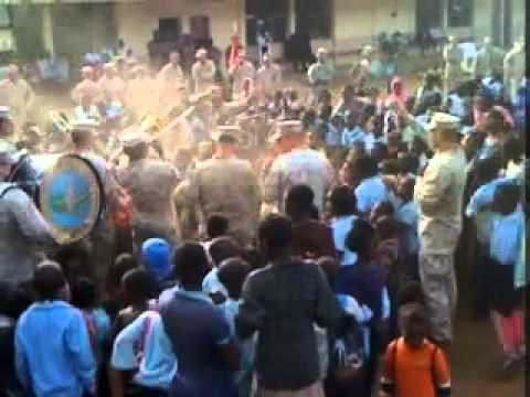 Marine Corps Band and the Children of Moama, Mozambique