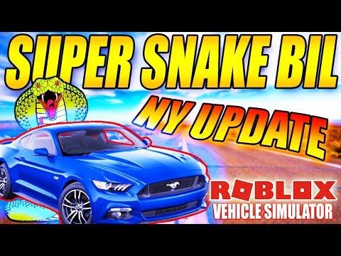 KØBER SUPER SNAKE BIL - SLANGEBIL?! -VEHICLE SIMULATOR (NY UPDATE) - DANSK ROBLOX - [#28]