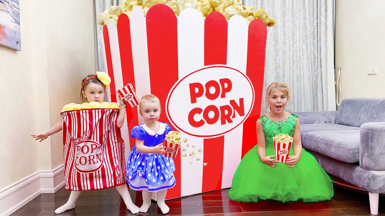 Five Kids Pretend play with Food Toys Popcorn