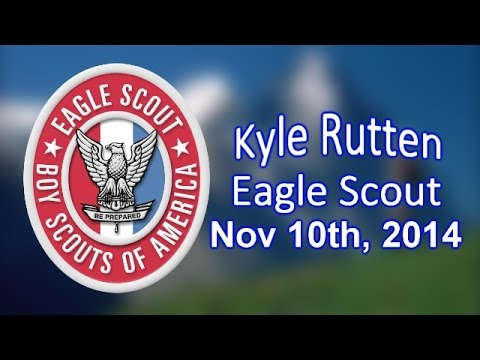 Kyle Rutten Eagle Scout ceremony