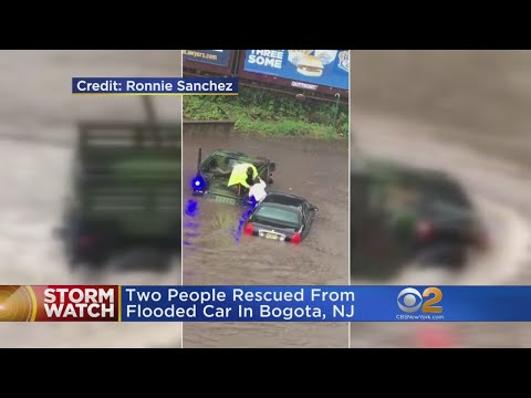 Water Rescues After Flash Floods In New Jersey