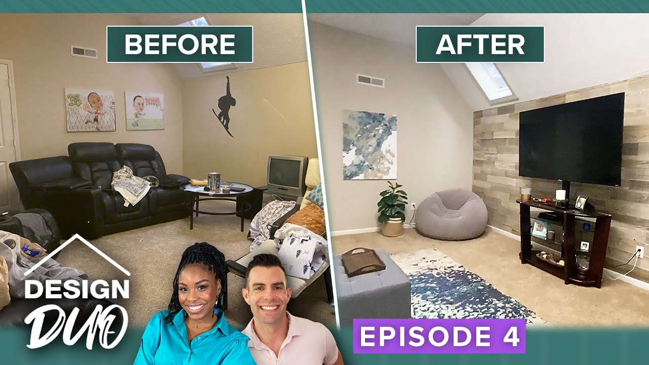 'Design Duo' Ep. 4 Finale: Amazing Couple Redo Their Upstairs Rec Room