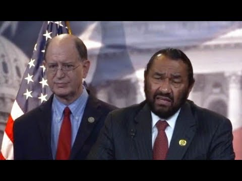 Rep. Al Green Articles of Impeachment Pres. Trump. News conference. 6/7/17.