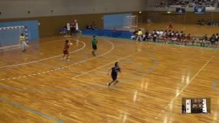 6日 ハンドボール女子 国体記念体育館Dコート 浦添×青森中央 2回戦 2