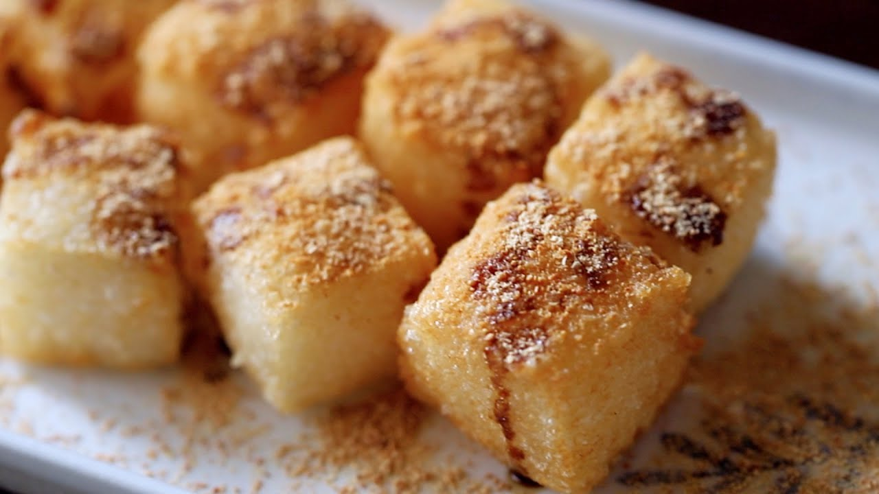 Ci ba (Chinese sticky rice cake) with Brown Sugar