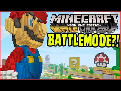 Minecraft Wii U - SUPER MARIO BATTLE MODE MINI GAMES!? EXCLUSIVE BATTLE MODE MINI GAMES!