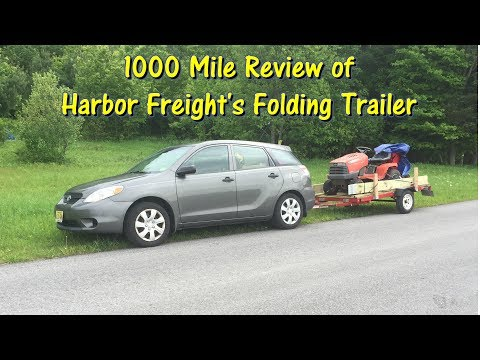 Harbor Freight Folding Trailer 1000 Mile Review by @GettinJunkDone