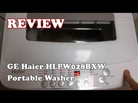 GE Haier HLPW028BXW Portable Washer Review 2019