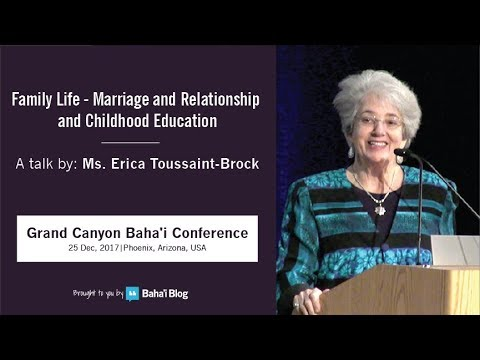 """Family life: Marriage and Relationships and Childhood Education"" a Talk by Erica Toussaint-Broc"