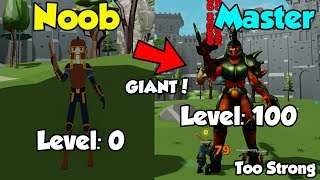 I Reached Level 100! On Leaderboard! OP! - Giant Simulator