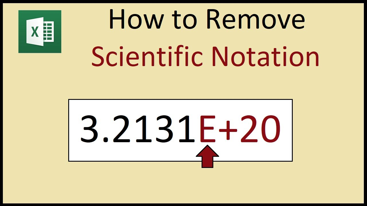 How to remove scientific notation from large numbers in Excel