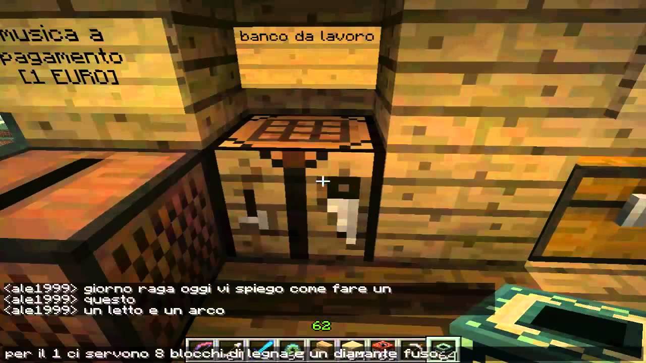 come fare un letto,un arco e un jukebook in minecraft - YouTube