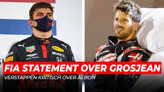 FIA geeft update over Romain Grosjean & Max Verstappen kritisch over Albon | GPFans Raceday
