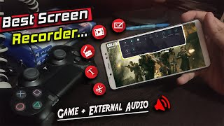 Best Screen Recorder For Android (External+Game Audio) Upto 2k Recording