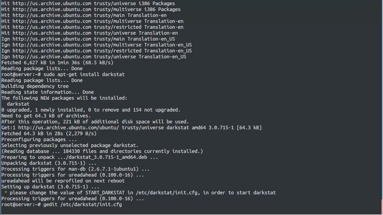 How To install Darkstat is a Web Based Network Traffic Analyzer on Linux