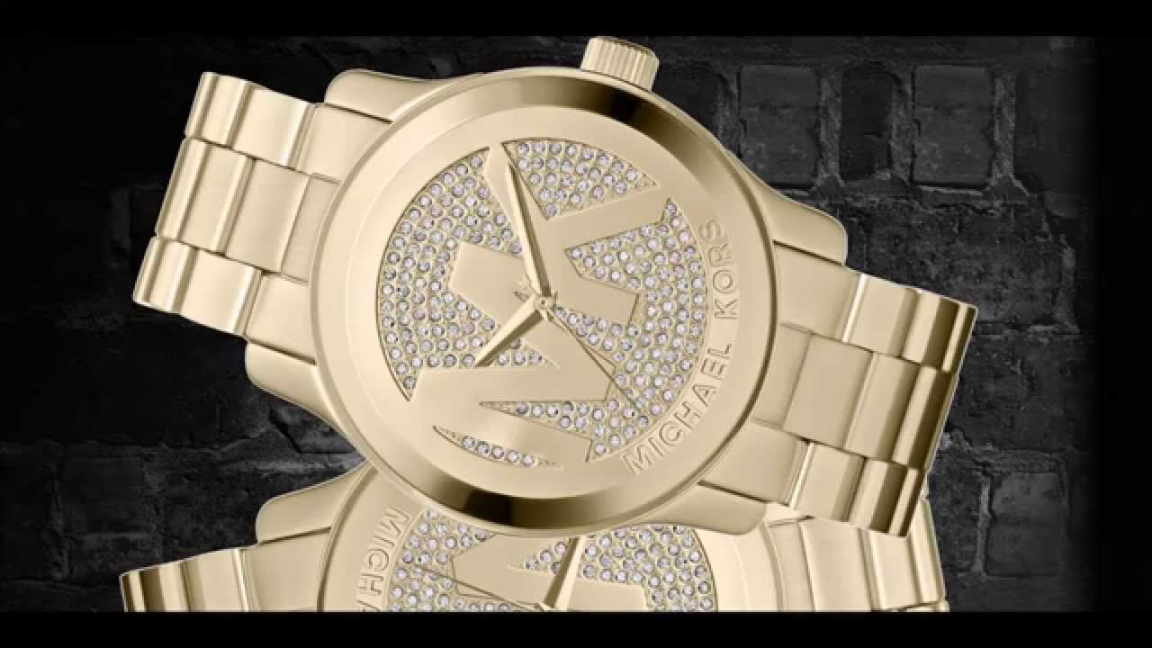 cd9edb9c6 Relógio - Michael Kors Women's Runway Gold-Tone Stainless Steel Bracelet  Watch 45mm MK5706 - YouTube
