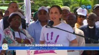 RTG / Journée nationale de la femme - Sylvia Bongo Ondimba en première en ligne
