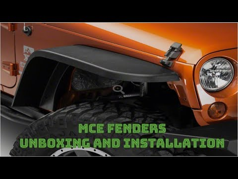 MCE Fenders unboxing and installation