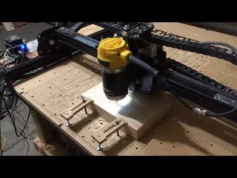 Timelapse of My X-Carve CNC Cutting a Design Into Wood