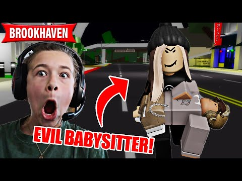 THE EVIL BABYSITTER KIDNAPPED OUR BROTHER!! **BROOKHAVEN ROLEPLAY**  | JKREW GAMING |