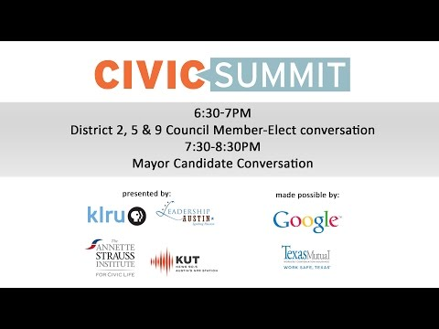 Civic Summit: Newly Elected Districts and Austin Mayor Runoff Conversations