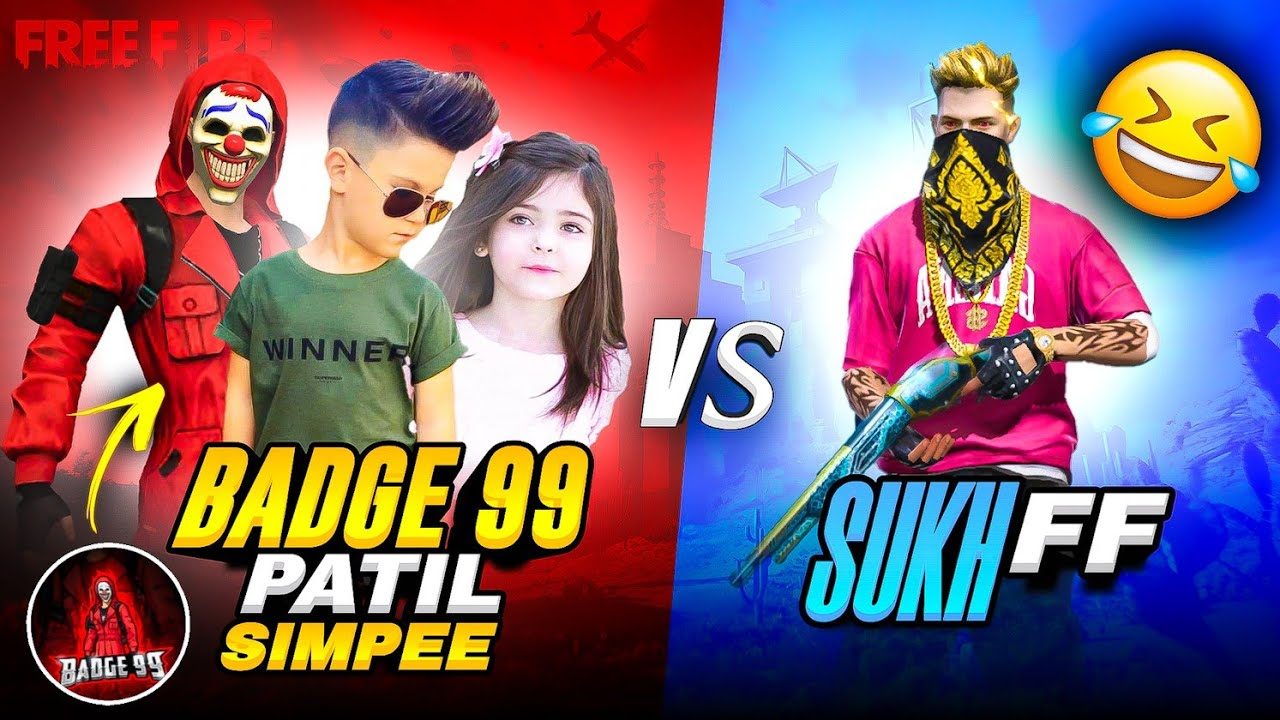 Badge 99 Patil And Simpee Call Me Noob 😡आजा 1 vs 3 में🔥- Garena Free Fire