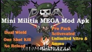 Mini Militia Hack Unlimited Gun , Boost And Bomb