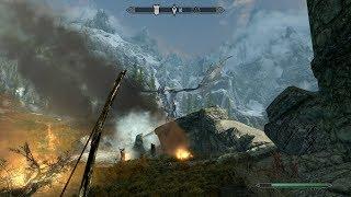 Прохождение Skyrim #5 Первая битва с драконом