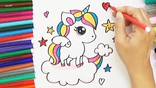How to Draw a Cartoon Unicorn - Cute and Easy | BoDraw