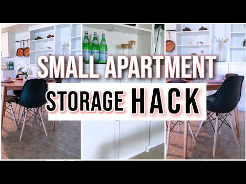 Small Apartment STORAGE HACK Using An IKEA BILLY BOOKCASE | IKEA HACK