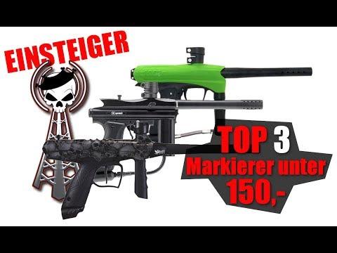 TOP 3 Einsteiger Paintball Markierer unter 150 Euro non-tactical