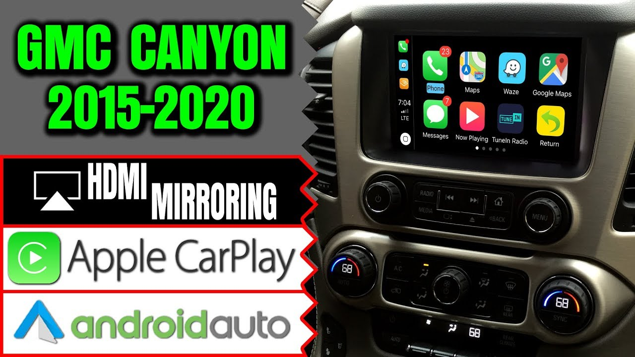Gmc Canyon 2015 2019 Navigation Intellilink Video Interface Apple