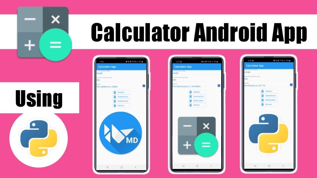 Calculator Android App using Python | Convert .Py to APK