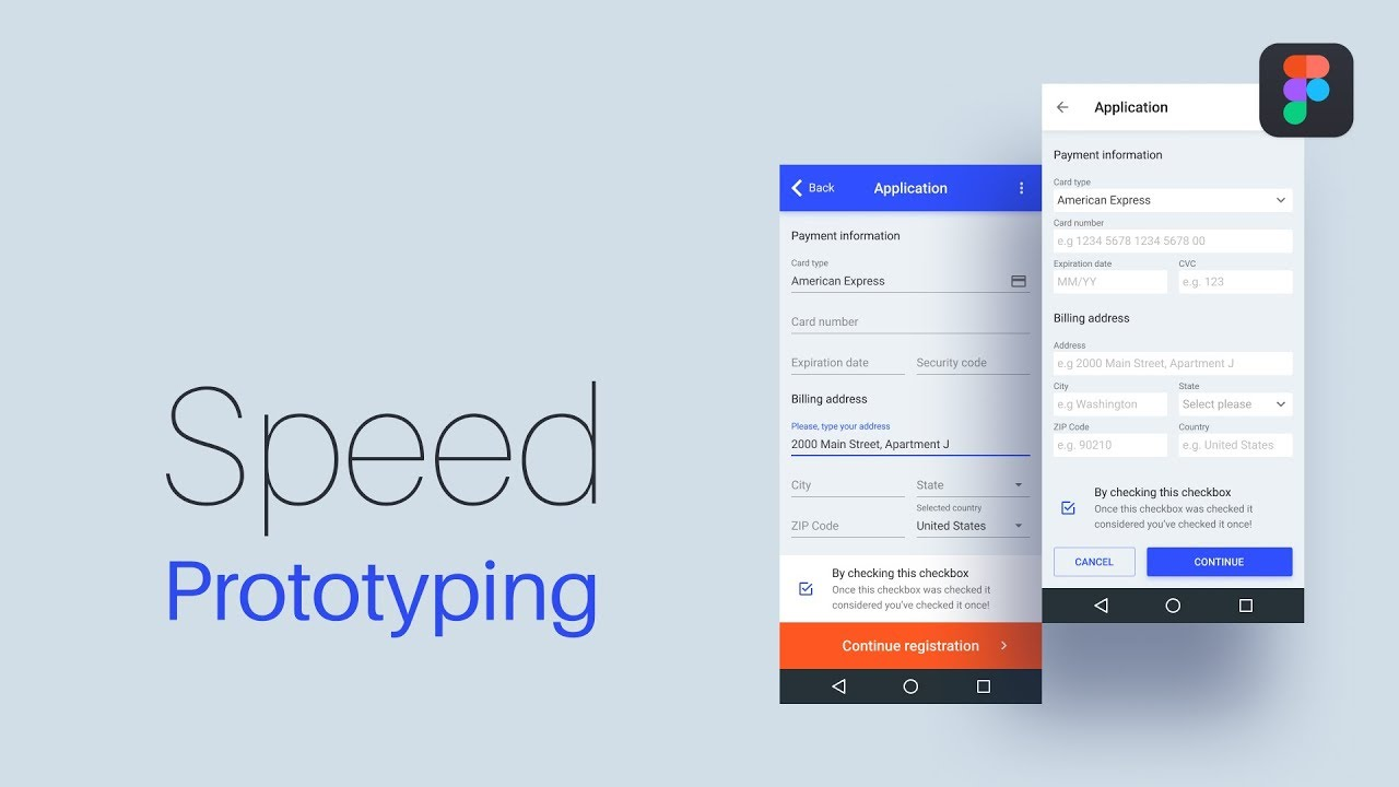Material design kit  Speed mobile prototyping Figma