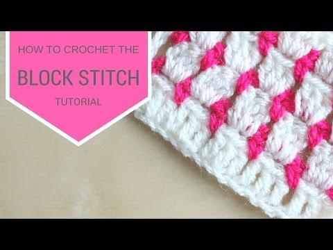 CROCHET: How to crochet the block stitch | Bella Coco