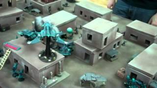 Eldar Vs Astra Militarum Full Warhammer 40k Battle Report- Blue Table Painting