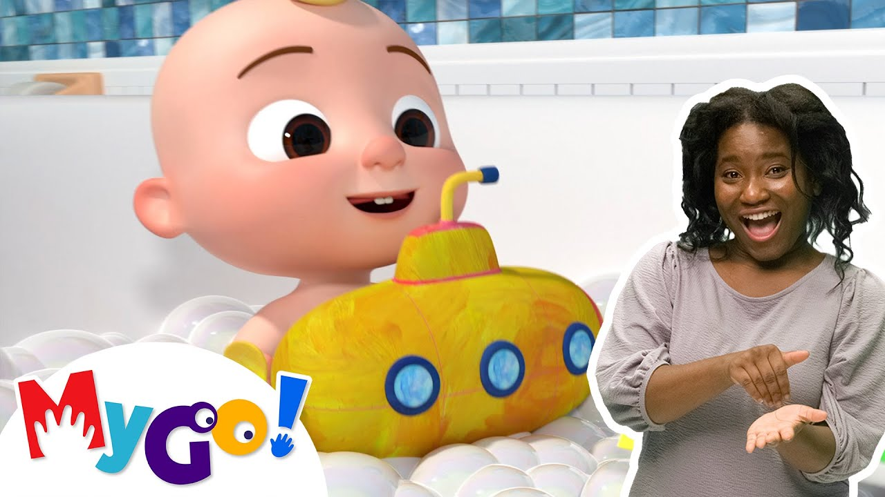 Download Bath Song | MyGo! Sign Language For Kids | CoComelon - Nursery Rhymes | ASL