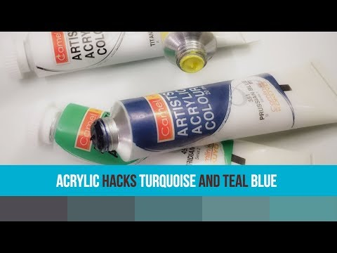Acrylic hacks-turquoise color-teal blue-How to get turquoise blue