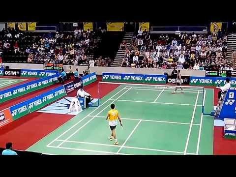 Taufik Hidayat vs Parupalli Kashyap 7/7 | BEST Badminton Perfect Angle Match | BWF India Open 2013