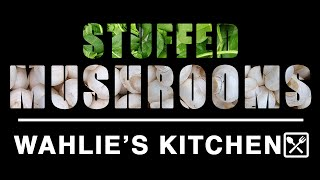 Spinach Cheese Stuffed Mushrooms | Wahlie's Kitchen