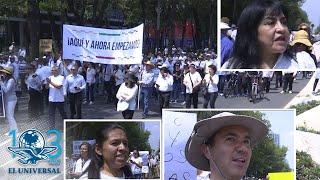Marchan por Reforma contra AMLO