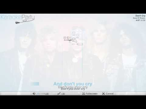 guns-n'-roses---don't-cry---karaoke