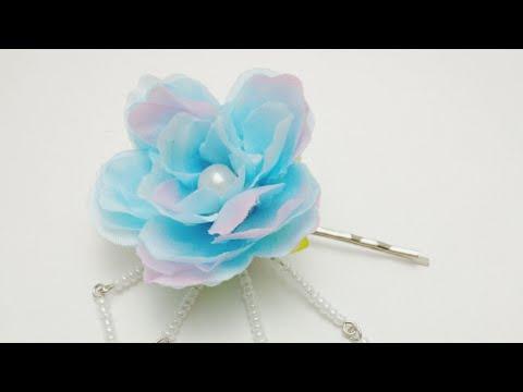 DIY Tutorial - Chinese hair Accessories Flower Hair Clip