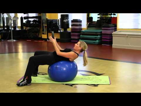 How To Do Abdominal Crunches Or Sit-Ups On An Exercise Ball