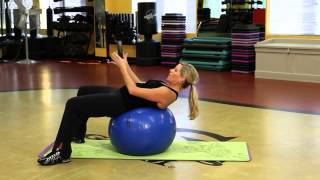 How To Do Abdominal Crunches Or Sit Ups On An Exercise Ball