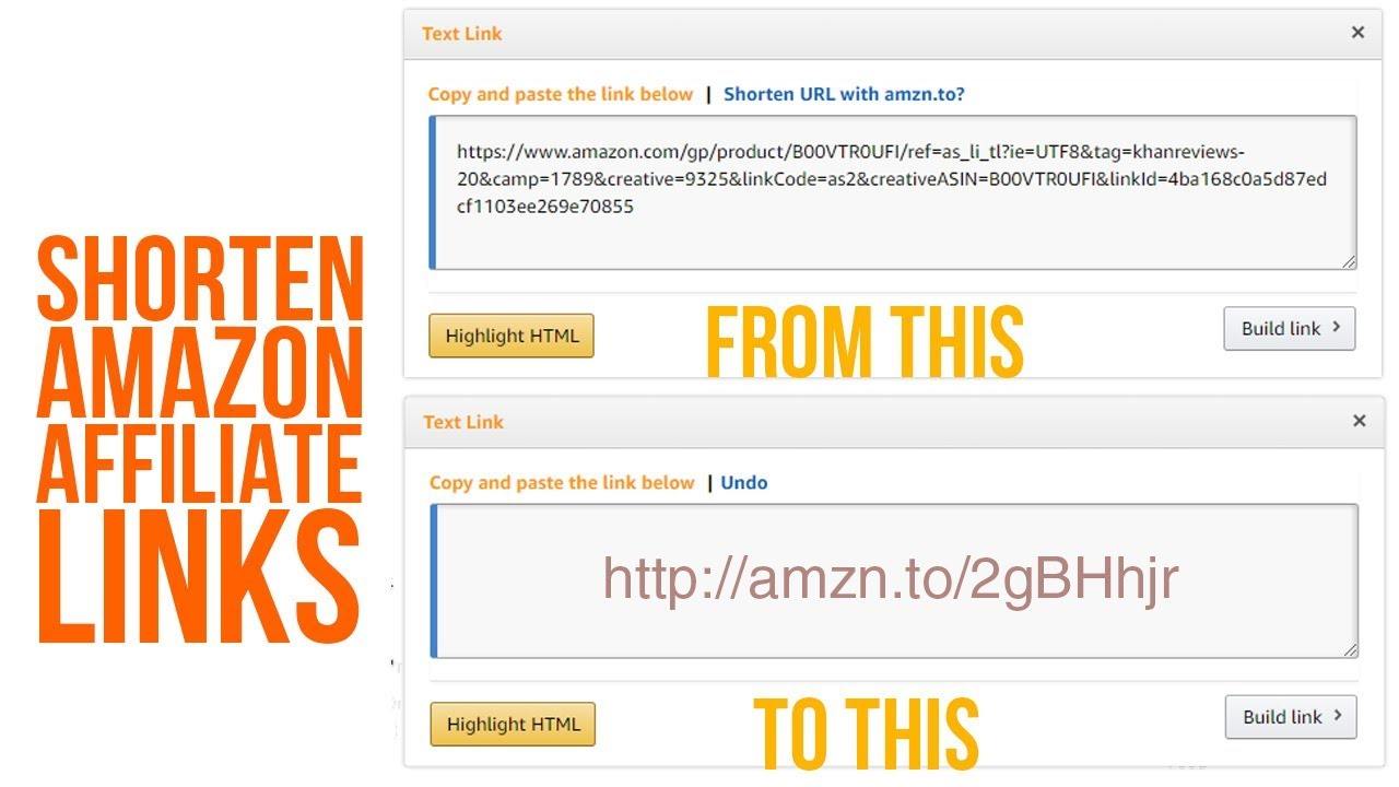 how to get amazon affiliate link