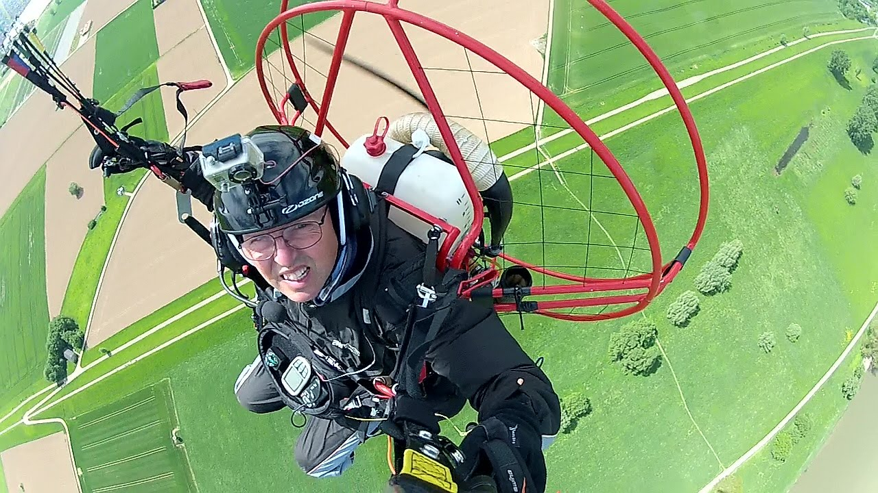 Hyperlaps Paramotoring August 2015 - Fresh Breeze Solo 122