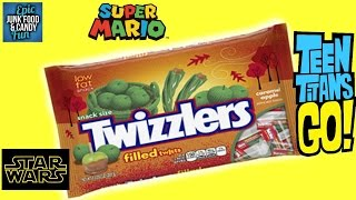 TEEN TITANS GO! Halloween, TWIZZLERS CARAMEL APPLE, Kid Candy Review