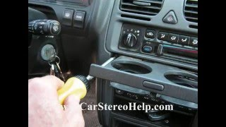 How to Subaru Legacy and Outback car Stereo radio Removal replace